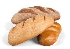 Fresh homemade bread loaves, close-up. Fresh homemade bread close up background close-up closeup stock photo