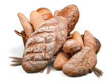 Fresh homemade bread loaves, close-up. Fresh homemade bread close up background close-up closeup stock images