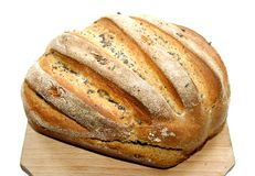 Fresh homemade bread with poppy seeds Stock Photos