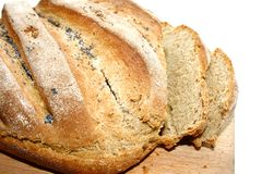 Fresh homemade bread with poppy seeds Stock Image
