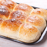 Home made bread rolls Stock Photo