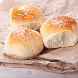 Home made bread rolls Stock Photos