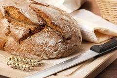 Fresh homemade bread still life Stock Photos