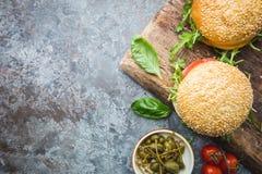 Fresh homemade burger royalty free stock photos