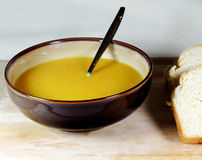 Fresh, Homemade Carrot & Parsnip Soup Royalty Free Stock Photos