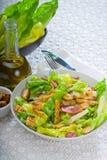 Fresh homemade ceasar salad stock photography