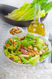Fresh homemade ceasar salad Royalty Free Stock Photos