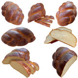 Fresh Homemade Challah Bread. Jewish  Celebration  Bread  Obed  Loaf  Tasty  Pastries  Food  Are  Brown Stock Photo