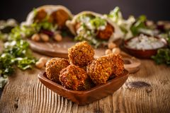 Fresh homemade chickpeas falafel Stock Photo