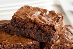 Fresh Homemade Chocolate Brownie royalty free stock image