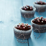 Fresh Homemade Chocolate Cupcakes Stock Photos