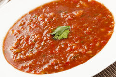 Fresh Homemade Cold Gazpacho Soup Royalty Free Stock Photo
