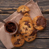 Fresh homemade cookies with chocolate Stock Photo