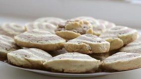 Fresh homemade cookies stock footage