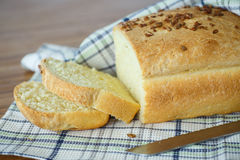 Fresh homemade corn bread with seeds Stock Photo
