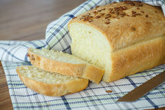 Fresh homemade corn bread with seeds Royalty Free Stock Photo