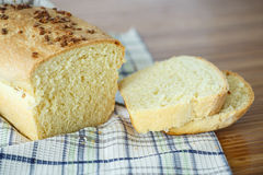 Fresh homemade corn bread with seeds Stock Photography