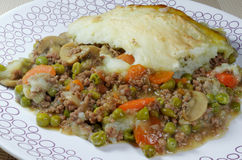 Fresh Homemade Cottage Pie Royalty Free Stock Image