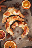 Fresh homemade croissants Royalty Free Stock Photography