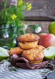 Fresh homemade delicious apple muffins Royalty Free Stock Images