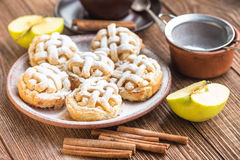 Fresh homemade delicious apple muffins. Royalty Free Stock Images