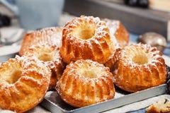 Fresh homemade delicious mini bundt cakes Stock Photo