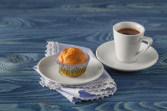 Fresh homemade delicious pumpkin muffins with for breakfast Royalty Free Stock Image