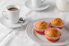 Fresh homemade delicious pumpkin muffins with for breakfast Stock Photo
