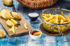 Fresh homemade French fries Royalty Free Stock Photos