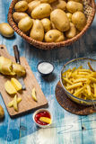 Fresh homemade French fries Royalty Free Stock Image