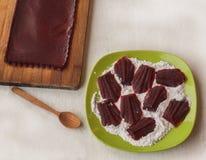 Fresh homemade fruit pastes Stock Image