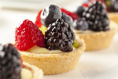 Fresh Homemade Fruit Tart Stock Photo