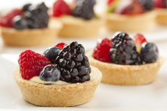Fresh Homemade Fruit Tart Stock Photo