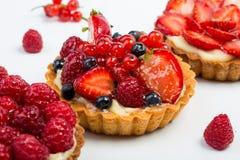 Fresh Homemade Fruit Tart with berries Stock Image