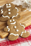 Fresh Homemade Gingerbread Men Stock Photography