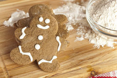 Fresh Homemade Gingerbread Men Royalty Free Stock Photos