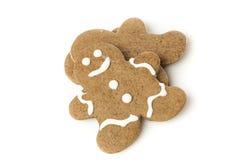 Fresh Homemade Gingerbread Men Stock Photo