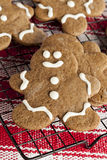 Fresh Homemade Gingerbread Men Royalty Free Stock Images