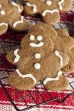 Fresh Homemade Gingerbread Men Royalty Free Stock Images