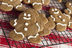 Fresh Homemade Gingerbread Men stock photography
