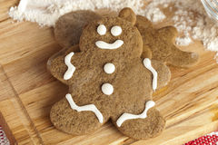 Fresh Homemade Gingerbread Men Stock Images