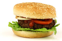 Fresh homemade hamburger Royalty Free Stock Photos