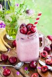 Fresh homemade healthy berry smoothie Stock Photography
