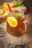 Fresh homemade ice tea. Stock Photos