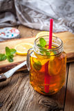 Fresh homemade ice tea. Royalty Free Stock Image