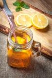 Fresh homemade ice tea. Stock Photo