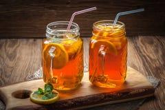 Fresh homemade ice tea. Stock Images