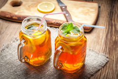 Fresh homemade ice tea. Royalty Free Stock Photos