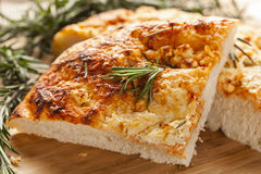 Fresh Homemade Italian Focaccia Bread Stock Photography