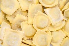 Fresh homemade italian pasta, agnolotti Royalty Free Stock Photos